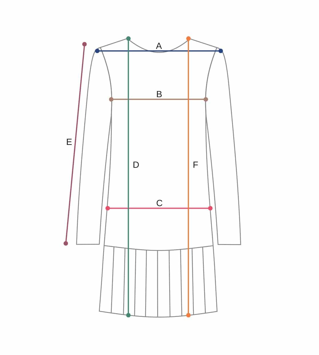 Dress Anna Size chart