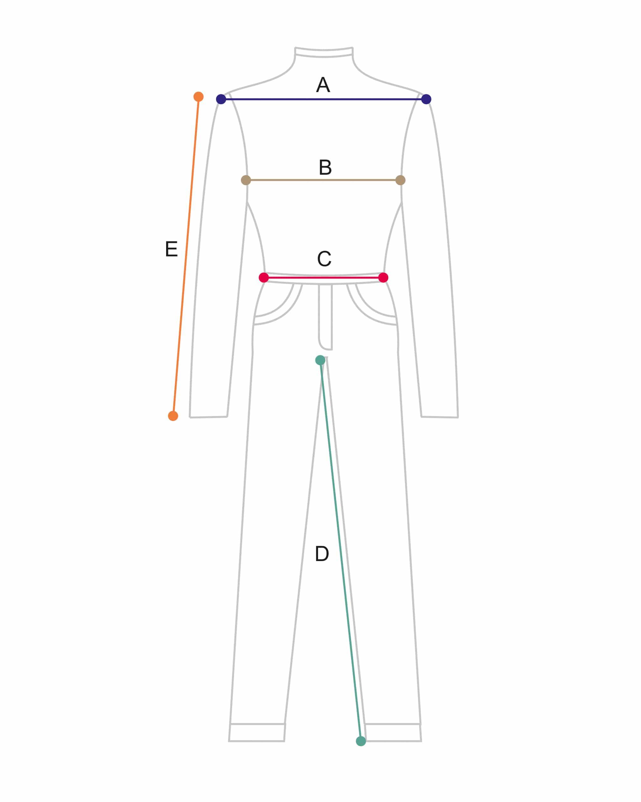 "Jumpsuit ""Amber"" Size chart"